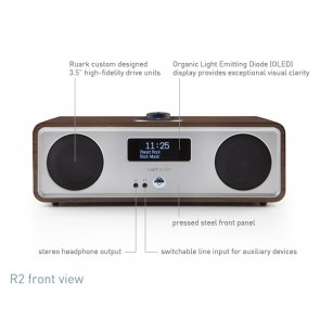 RADIO DA TAVOLO RUARK AUDIO WIRELESS BLUETOOTH R2S BLACK